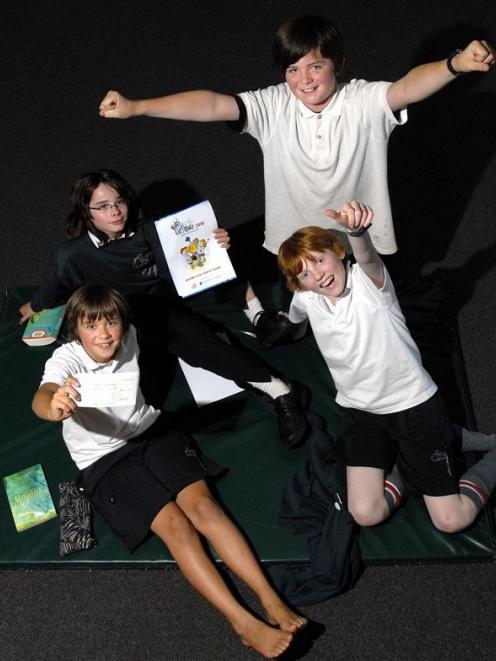 Proud of their win in the Kids' Lit Quiz Otago heat yesterday are Dunedin North Intermediate...