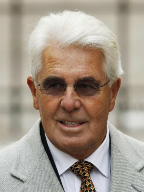 Publicist Max Clifford arrives to give evidence to the Leveson Inquiry into the culture,...