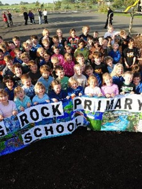 Pupils from Brighton and Ocean View Schools, which will merge next term, celebrate their new name...