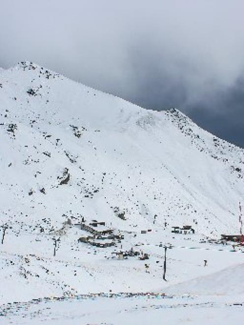 The Remarkables ski area yesterday after three days of snow. PHOTO: SUPPLIED