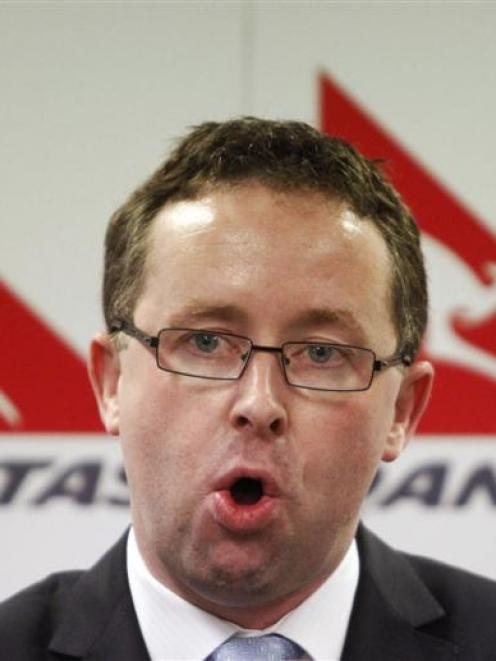 Qantas chief executive Alan Joyce, who locked out company staff. Photo by Reuters.