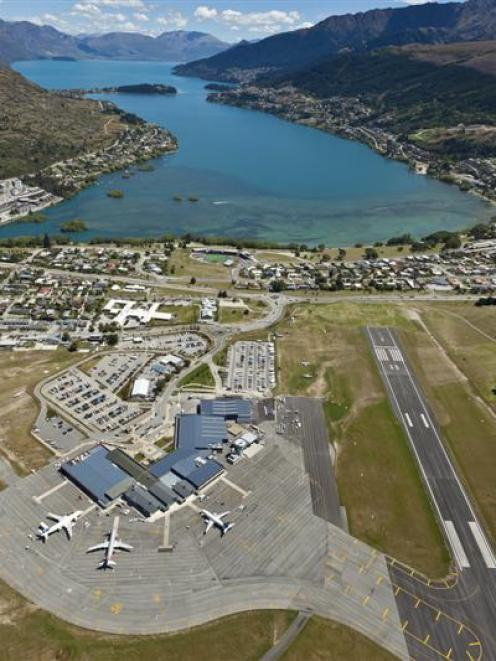 Queenstown Airport  had an extra 132 flights in December. Photo supplied.