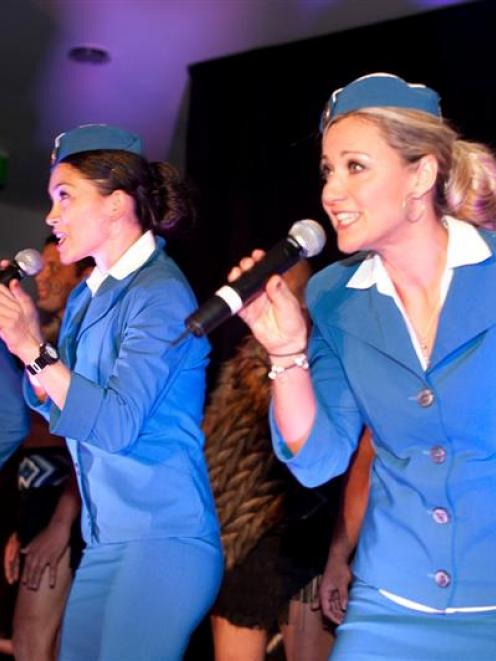 Queenstown-based act the Sequin Sisters (from left) Charlotte Graf, Tania Pimm and Nikki Bodle...
