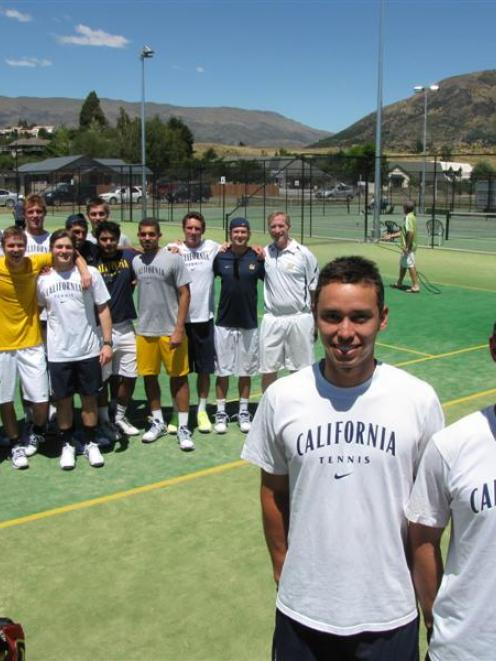 Queenstown brothers Ben (20, front left) and Riki McLachlan (21), along  with their fellow...