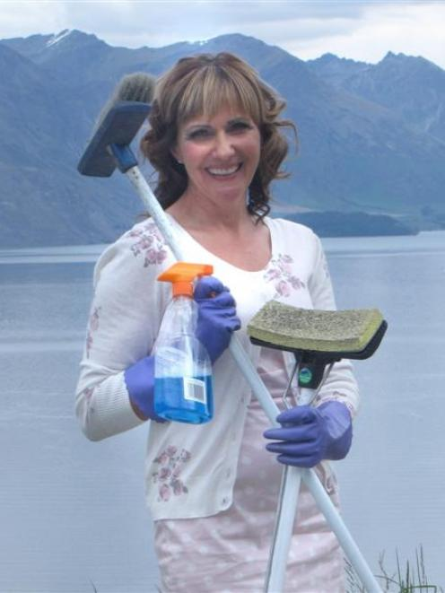"Queenstown businesswoman Moira Finlin who recently launched ""Hire A Mum"" in the resort. Photo by..."