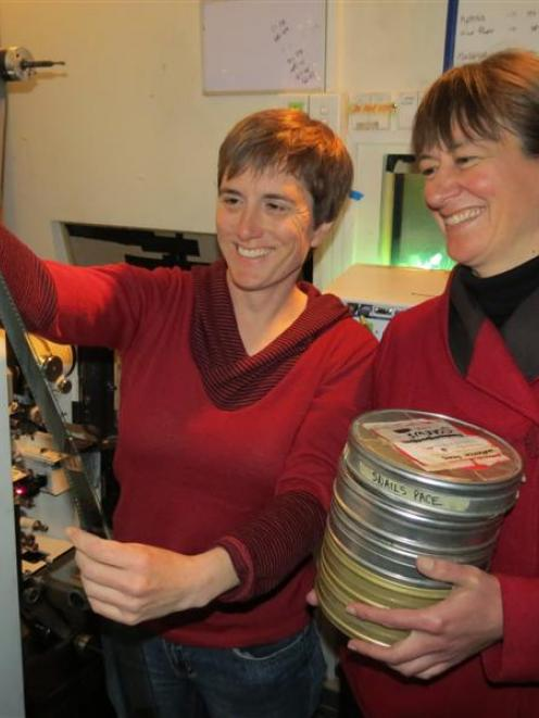 Queenstown Film Society committee members Alison Dench (left), of Arrowtown, and Debbie Nelson,...