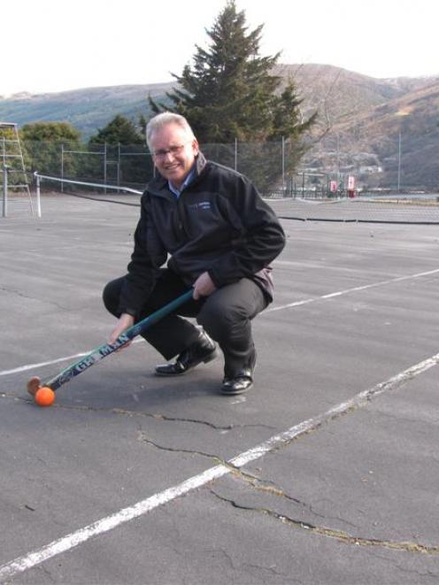 Queenstown Hockey Club coach Ewan Maxwell at the old tennis courts which are soon to be...
