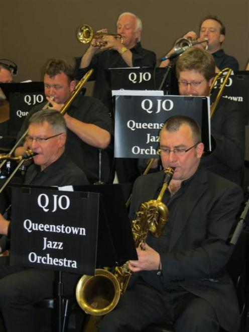 Queenstown Jazz Orchestra members (from left) Robin Whiting, Jim Turrell, Trevor Tattersfield,...