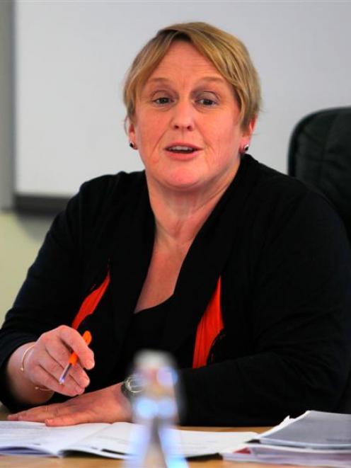 Queenstown Lakes Mayor Vanessa van Uden during yesterday's special council meeting.