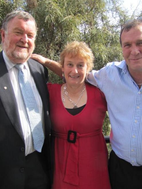 Queenstown Lakes mayoral candidates, from left, Simon Hayes, Vanessa van Uden and Michael Scott...