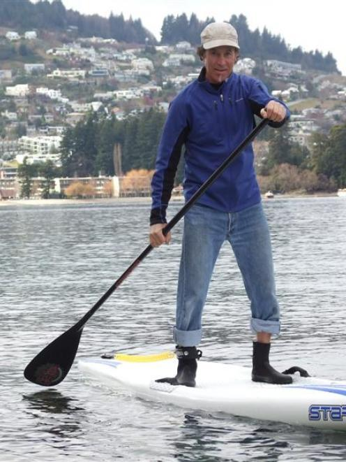 Queenstown paddle board enthusiast Jef Desbecker gets his toes wet before this Sunday's...