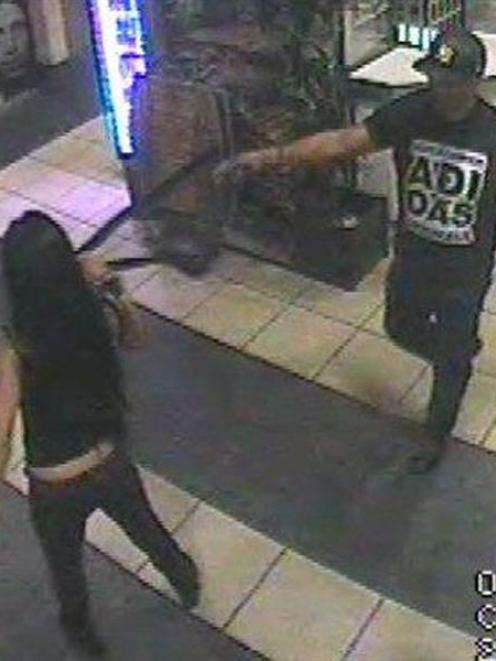 Queenstown police want to speak to this Polynesian or Maori man, wearing a distinctive adidas T...