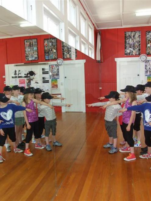 Queenstown School of Dance level 2 hip-hop dancers practise for their performance in the...