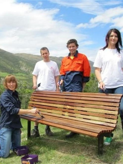 Queenstown Veolia Water Office Volunteers Zoe Richardson, Stuart Pile, Dan  Cain And Jodie Climo