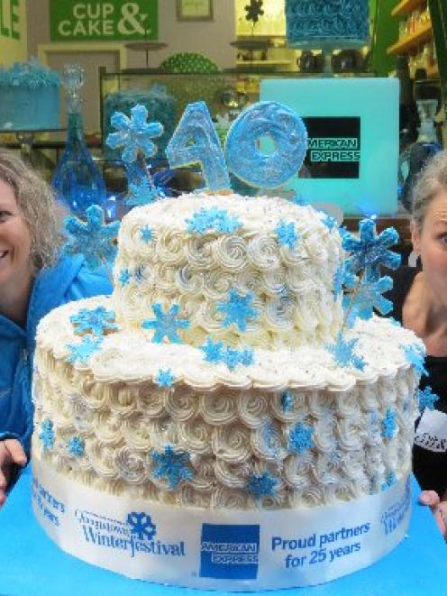 Queenstown Winter Festival director Lisa Buckingham (left) and Cup & Cake owner Jaimie Stodler...