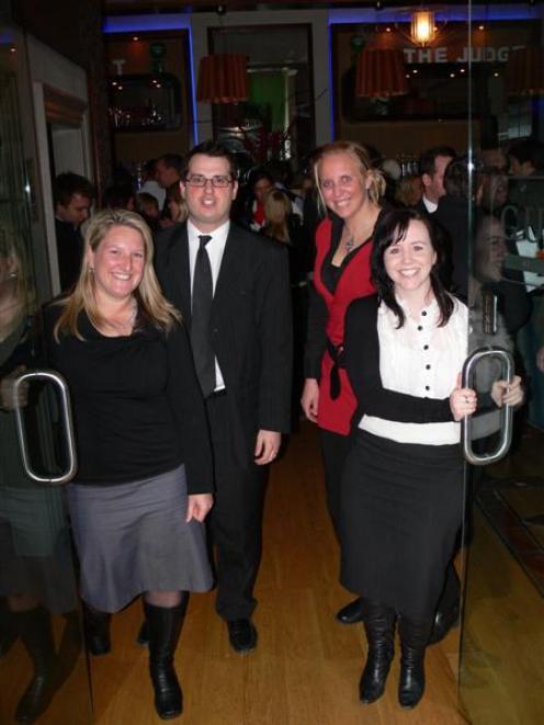 Queenstown Young Professionals committee (from left) member Wendy Sherlock, treasurer Joel Peasey...