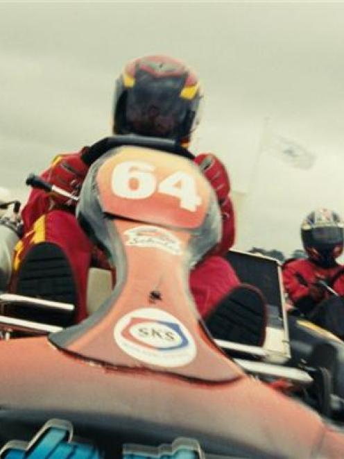 Racing action from the film.