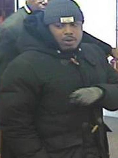 Ralik Hansen, 28, is seen in an image taken by a surveillance camera in the Cartier jewellery...