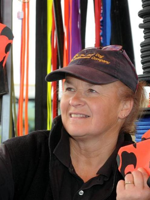 Ranfurly businesswoman Rose Voice has continued to grow her dog equipment business. Photo by ODT.