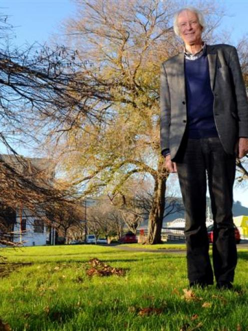 Archibald Baxter Memorial Trust chairman Prof Kevin Clements on the Anzac Ave site where the...