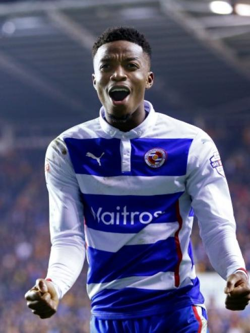 Reading's Nathaniel Chalobah celebrates his team's third goal against Bradford. Reuters / Eddie...