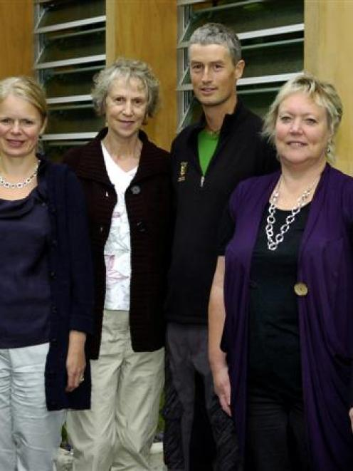 Recipients of Otago School of Medical Sciences awards announced yesterday are (from left) Dr...