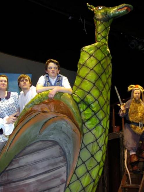Rehearsing The Voyage of the Dawn Treader at the Mayfair Theatre this week are (from left) Zac...
