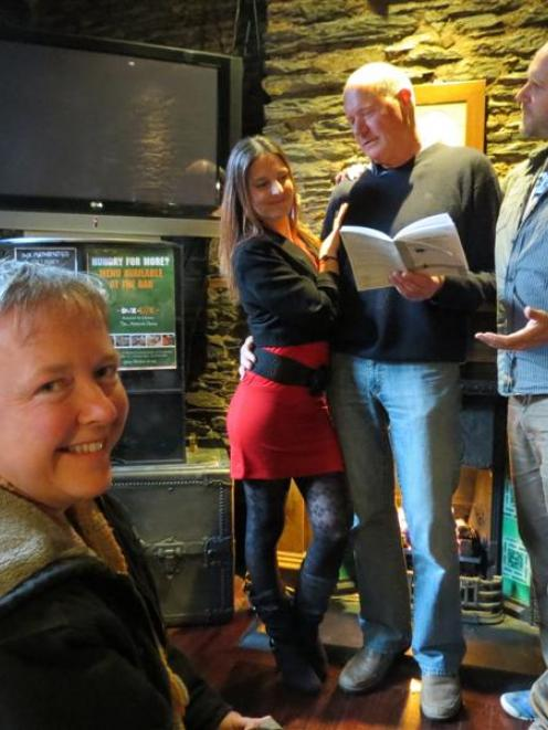 Remarkable Theatre members (from left) producer Sarah Bogle and actors Tiffany Menzies, David...