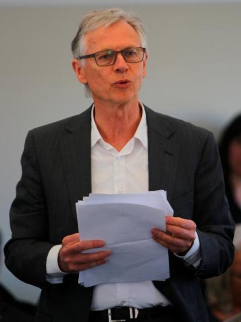 Remarkables Park Ltd co-director Alastair Porter addresses Queenstown Lakes district councillors...