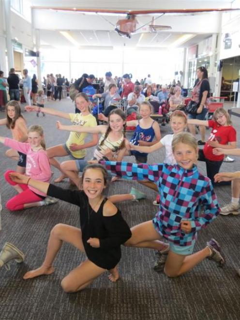 Remarkables Primary School pupils pose after demonstrating their Jump Jam dance moves in...