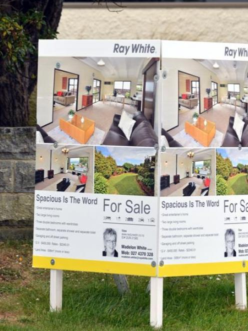 Reserve Bank lending restrictions have resulted in house sales falling. Photo by Peter McIntosh.