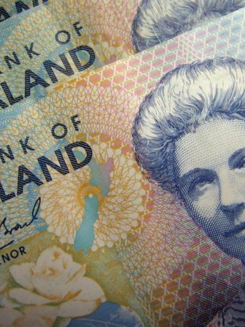Reserve Bank of New Zealand dollar notes. Photo by Reuters.