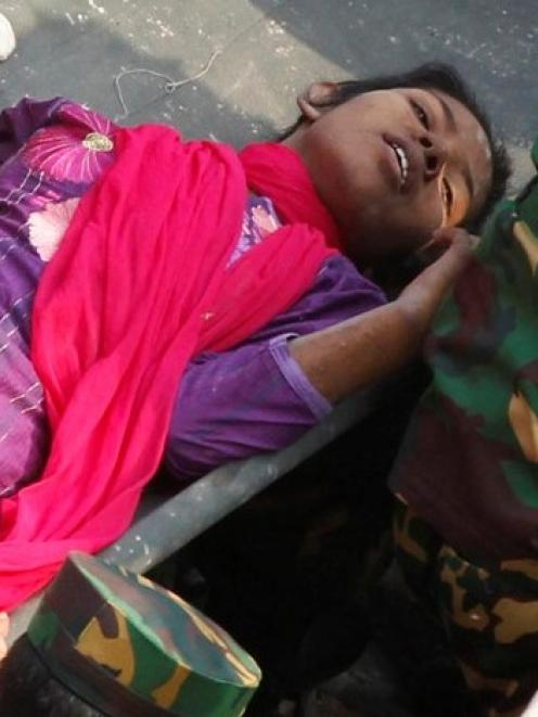 Reshma Begum is rescued from the rubble of the Rana Plaza building 17 days after the building...