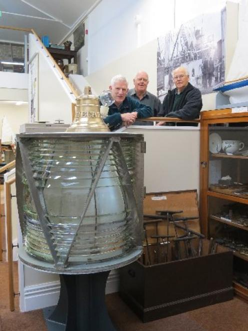 Resounding success . . . Port Chalmers Maritime Museum honorary curator Ian Church (left)...