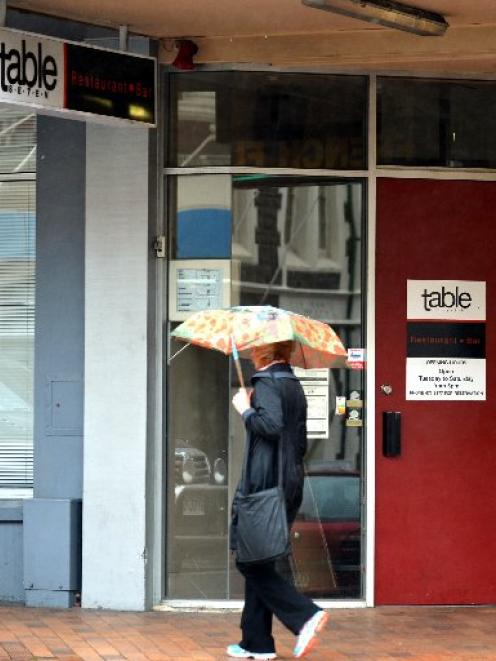 Restaurant Table 7 in Dunedin has shut its doors. Photo by Peter McIntosh.