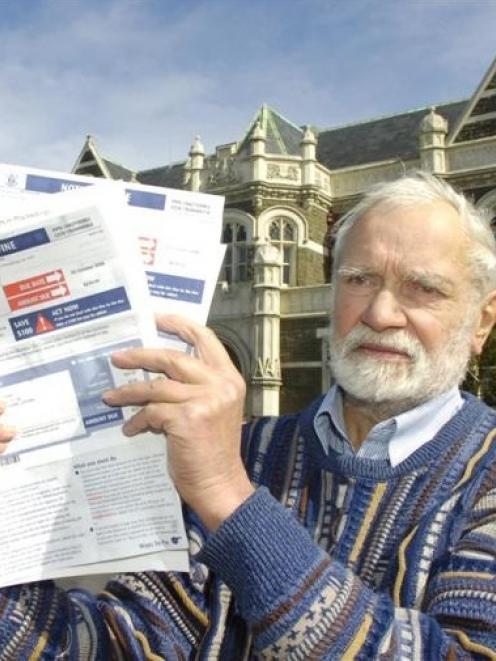 Retired Dunedin man George Morris is challenging fines on his van incurred in Otara. Mr Morris...