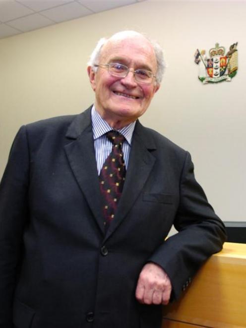Retiring Dunedin coroner Jim Conradson has his last day in court yesterday. Photo by Jane Dawber.