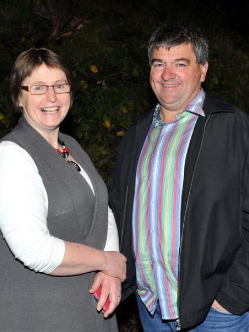 Returning councillor Kate Wilson and newcomer Mike Lord, who will be the Mosgiel-Taieri ward...