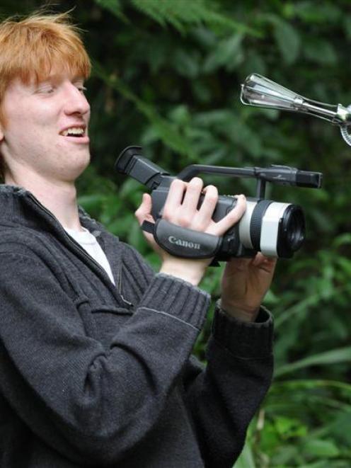 Rhian Gaffney has won the Otago Secondary Schools Film Competition with his film <i>Brain Thieves...