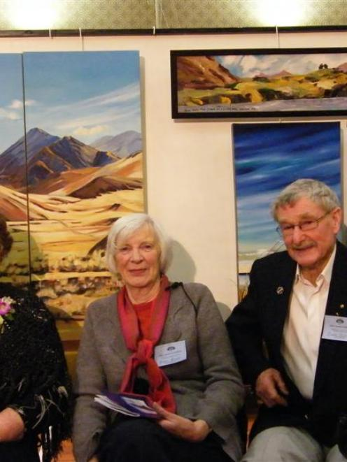 Riversdale Arts group secretary Claire Horrell (left) and life members Elaine Grant and Dusty...