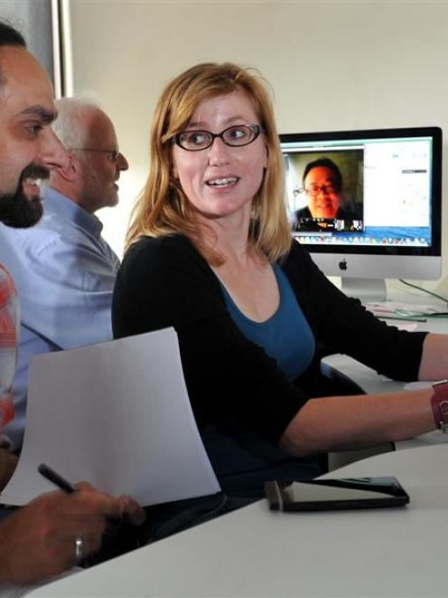 Richard White (left), Bernard Madill and Dr Erika Pearson  continue work at the University of...