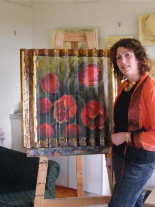 Riversdale artist Christine O'Connor thinks about which piece of work to exhibit at the...