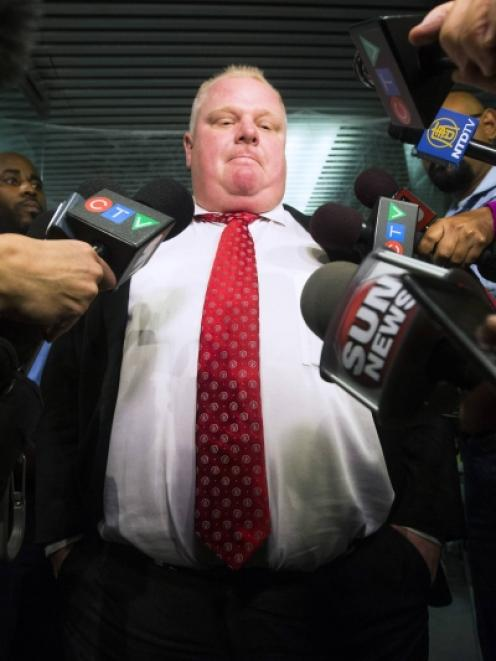 Rob Ford. Photo by Reuters