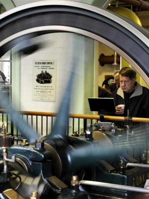 Robert Blank is absorbed in the workings of the Bryan Donkin Booster during an open day at the...