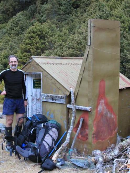 Robin McNeill, president of the Federated Mountain Clubs of New Zealand, gets close to nature at...