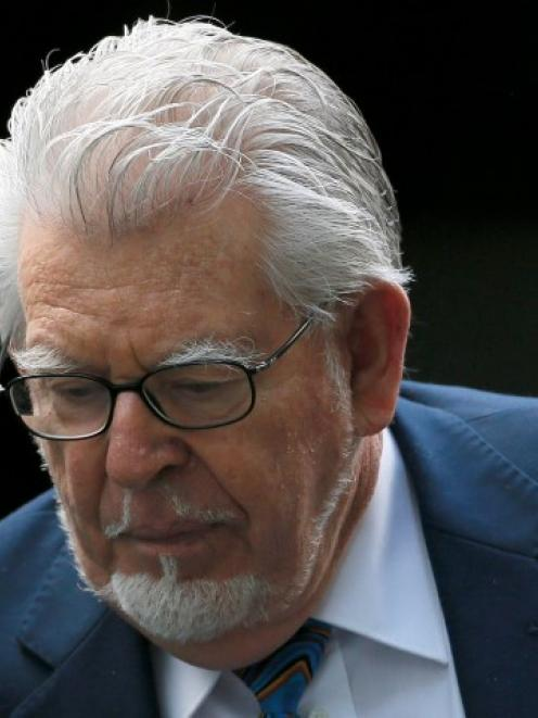 Rolf Harris arrives at Southwark Crown Court in central London. REUTERS/Stefan Wermuth
