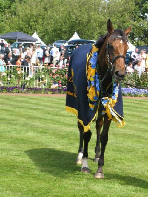 Rollout The Carpet after her win in the One Thousand Guineas. Photo by Jane Davidson.