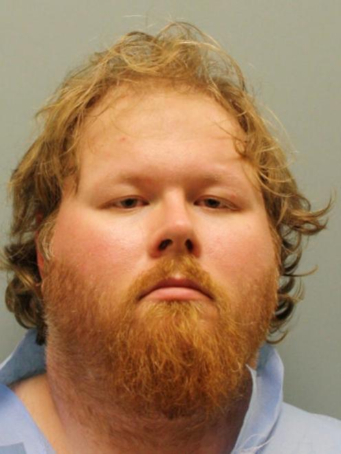 Ronald Lee Haskell, 33, is seen in an undated booking photo released by the Harris County Sheriff...