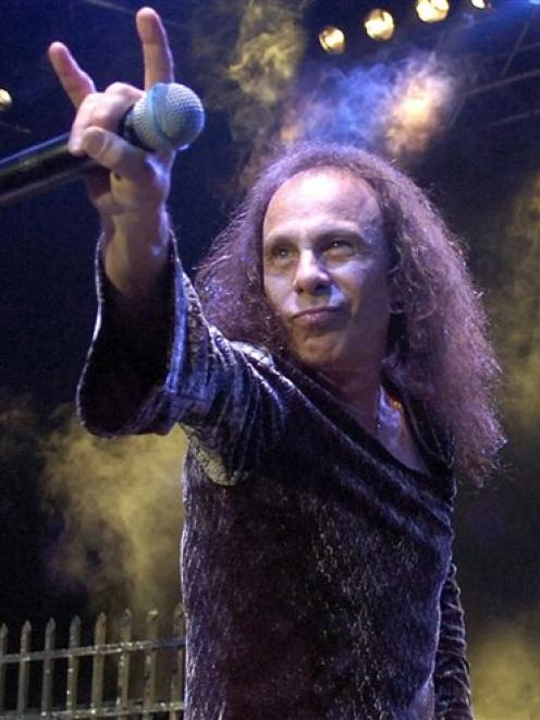 Ronnie James Dio performs with British heavy metal group Heaven and Hell in this 2007 file photo....