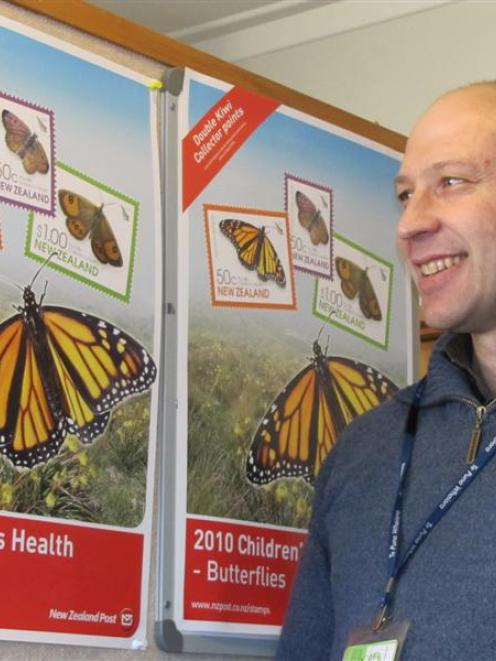 Roxburgh Children's Health Camp manager Martin Stuart says the butterfly featured on this year's...